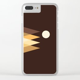 Coffee Sky with Creamy Moon on Capuccino Forest Clear iPhone Case