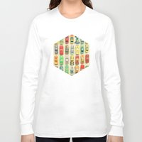 retro Long Sleeve T-shirts featuring Car Park by Cassia Beck