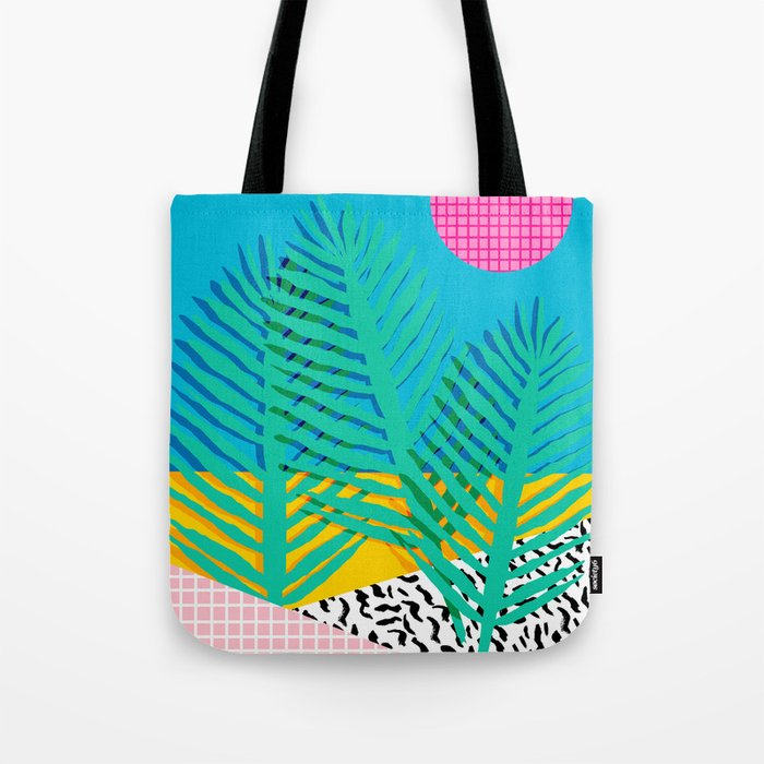 Mondo - 80's retro throwback memphis art print 1990's millennium gen x generation y dots grid  Tote Bag