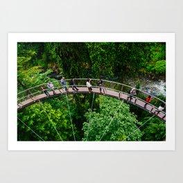 Spokes @ Capilano Suspension Bridge, Vancouver  Art Print