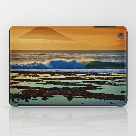 Indonesian Wave and Volcano iPad Case