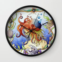 Octopus Wench Wall Clock