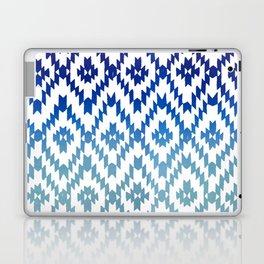 ombre blue ikat Laptop & iPad Skin