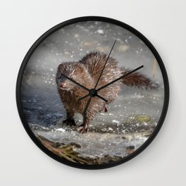 March mink Wall Clock
