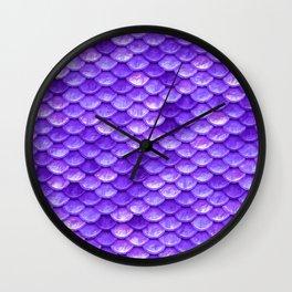 Purple Mermaid Wall Clock
