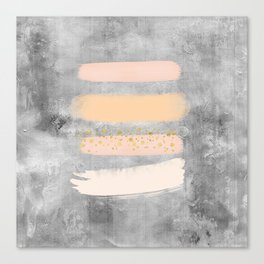 Pastel Stripes on Concrete Canvas Print