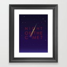 Night of the Comet Framed Art Print