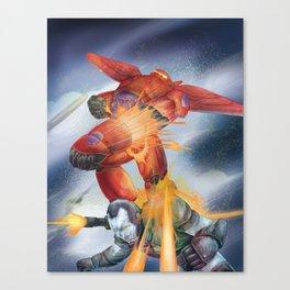 baymax x warmachine Canvas Print