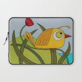 Yellow Wren Quail Laptop Sleeve
