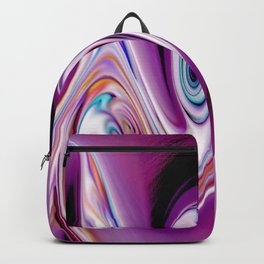 Waves and swirls, abstract, decorative patterns, colorful piece no 19 Backpack