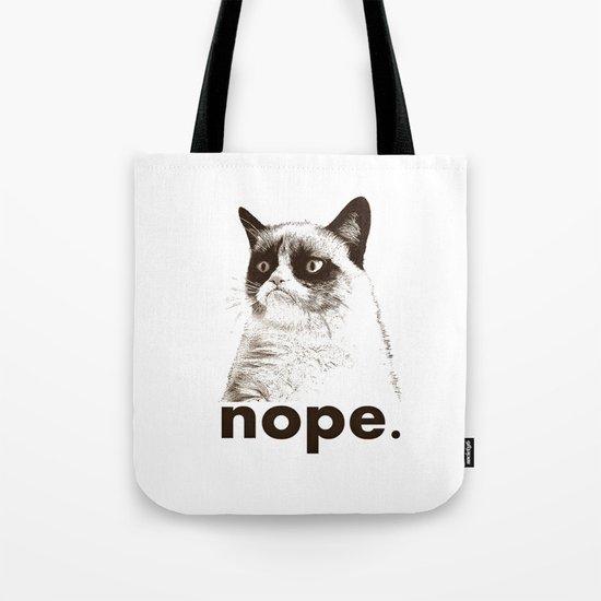 NOPE - Grumpy cat. Tote Bag