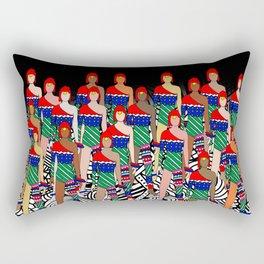 Red Headed Dolls Rectangular Pillow