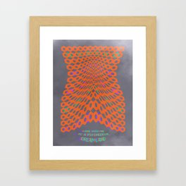 Come with me to a Psychedelic Dreamland Framed Art Print
