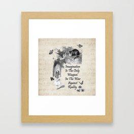 Alice In Wonderland Quote - Imagination Framed Art Print