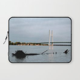 Mississippi River at Burlington, Iowa Laptop Sleeve