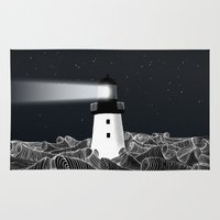 lighthouse Area & Throw Rugs featuring Lighthouse by Florent Bodart / Speakerine