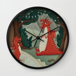 Concert of little Dragon Wall Clock