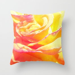 Love and Peace Pastel Rose Throw Pillow