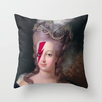 marie antoinette Throw Pillows featuring Marie Antoinette by lapinette