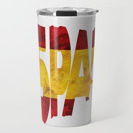 Espana / Spain Typographic Flag / Map Art Travel Mug