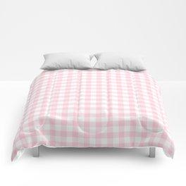 Light Soft Pastel Pink Cowgirl Buffalo Check Plaid Comforters