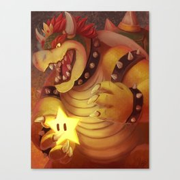 King Koopa Canvas Print