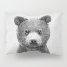 Baby Bear - Black & White Pillow Sham
