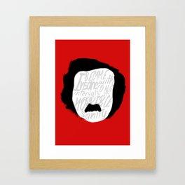 Edgar Allan Poe: Insanity Framed Art Print