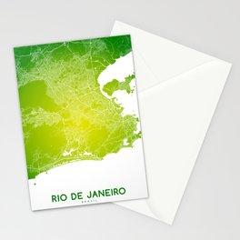Rio de Janeiro map Stationery Cards