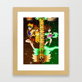 Fusion Sailor Moon Guitar #20 - Sailor Venus & Sailor Jupiter Framed Art Print