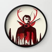 hannibal Wall Clocks featuring Hannibal by Risa Rodil