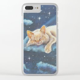 Cat Art, Mofeo and the Moon Clear iPhone Case