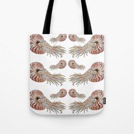 Wave of Nautilus Pattern Tote Bag