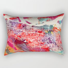 Antioch map California painting square 2 Rectangular Pillow