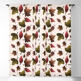Sparkly leaves fall autumn sparkles pattern Blackout Curtain