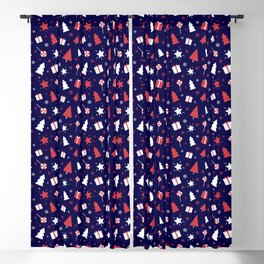 Christmas Ornaments Pattern Blackout Curtain