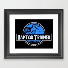 Raptor Trainer Framed Art Print