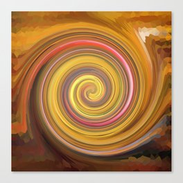 Swirls of digital paint Canvas Print