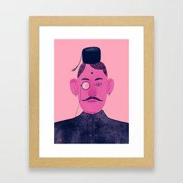 Monocle Man 1 Framed Art Print
