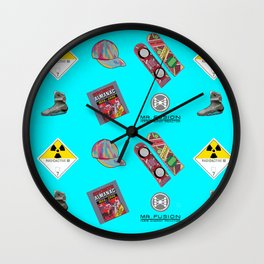 Where we are going we don't need roads Wall Clock