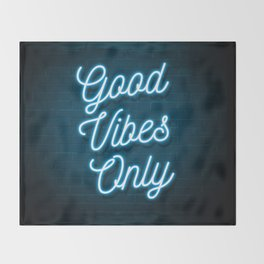 Good Vibes Only - Neon Throw Blanket