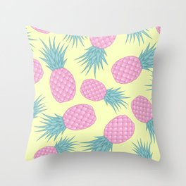Pink pastel pineapple Throw Pillow