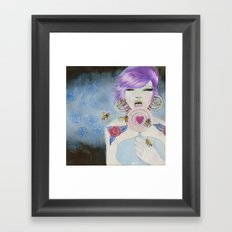 Pain and Love Framed Art Print