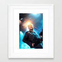 gorillaz Framed Art Prints featuring Damon Albarn (Blur) - II by Tomás Correa Arce (RockMe TommyBoy)