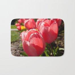 Pink Tulip Photography Print Bath Mat