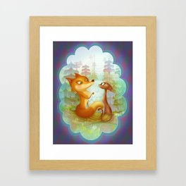 The Fox and the Cat Framed Art Print