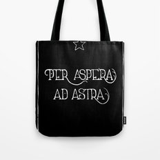 Per Aspera Ad Astra (black) Tote Bag