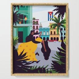 Havana ft. Salsa Dancers Serving Tray