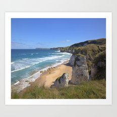 On the coast Art Print