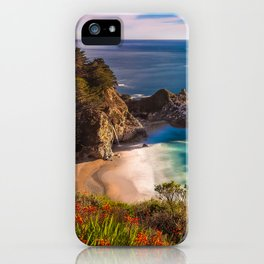 McWay Cove Spring Bloom, Big Sur iPhone Case